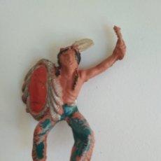 Figuras de Goma y PVC: FIGURA GOMA JINETE INDIO. Lote 138873482