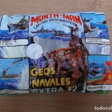 Figuras de Goma y PVC: SOBRE MONTA MAN MONTAPLEX LANCHA DESEMBARCO GEOS NAVALES EXTRA 42. Lote 138904086