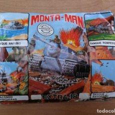 Figuras de Goma y PVC: SOBRE MONTA MAN MONTAPLEX TANQUE EXTRA 18. Lote 138910850