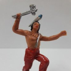 Figuras de Goma y PVC: GUERRERO INDIO . REALIZADO POR JECSAN . AÑOS 60 / 70. Lote 138924134