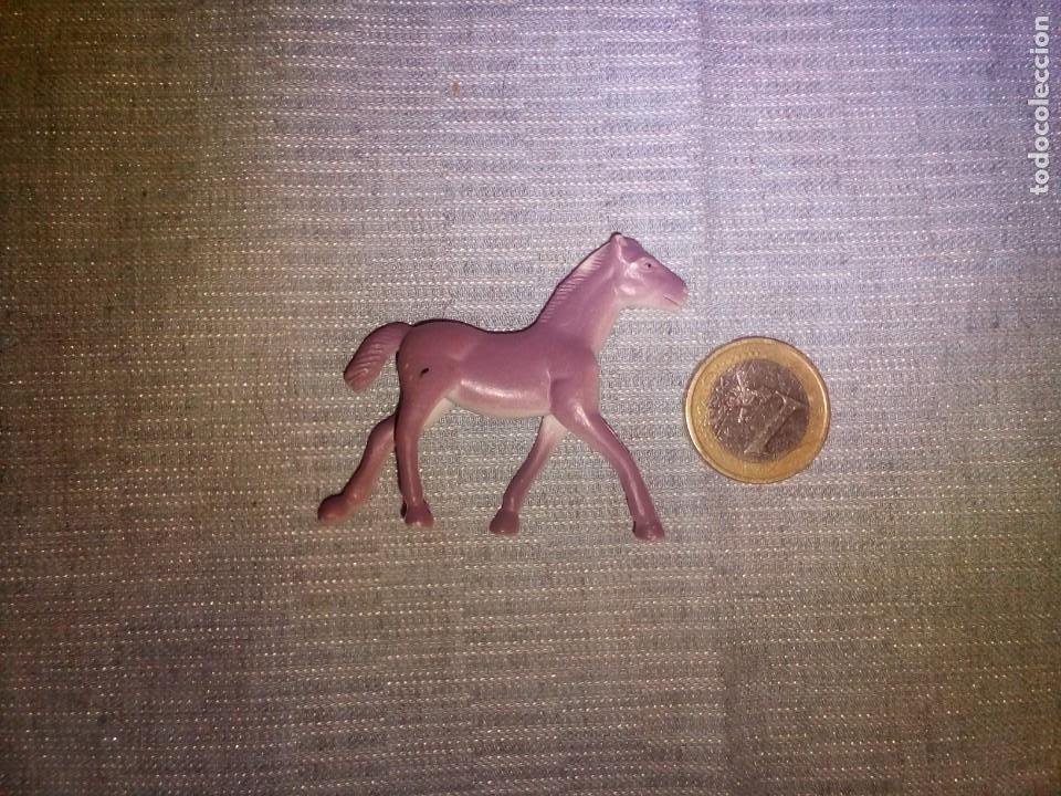 MINIATURA CABALLO DE GOMA ANIMALES DIORAMA 5X5 CM (Juguetes - Figuras de Goma y Pvc - Otras)