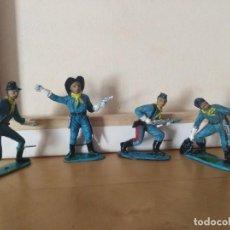 Figuras de Goma y PVC: FIGURAS PVC CONFEDERADOS NORDISTAS CABO RUSTY OESTE FEDERALES AMERICANOS COMANSI. Lote 139031358