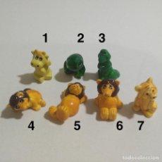 Figuras Kinder: FIGURAS TIPO KINDER ANIMALES LEON VACA COCODRILO RANA TIGRE FIGURITAS MINIATURA ZOO. Lote 139184130