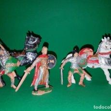 Figuras de Goma y PVC: PRÍNCIPE VALIENTE Y CABALLEROS REY ARTURO DE REAMSA, PLÁSTICO, AÑOS 60 . Lote 139441994