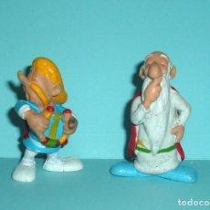 Figuras de Borracha e PVC: PERSONAJES DE ASTERIX Y OBELIX - BOOTLEG SPAIN - BARDO Y DRUIDA. Lote 139581182
