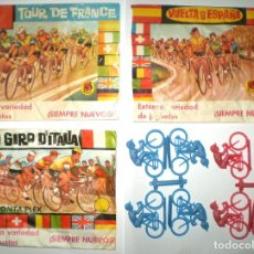Figuras de Goma y PVC: LOTE MONTAPLEX CICLISMO. Lote 139601966