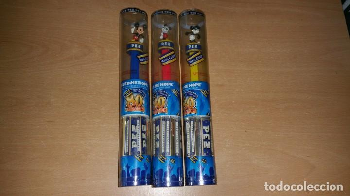 3 DISPENSADORES PEZ MICKEY MOUSE CHARITY EDITION 80 ANIVERSARIO (Juguetes - Figuras de Gomas y Pvc - Dispensador Pez)
