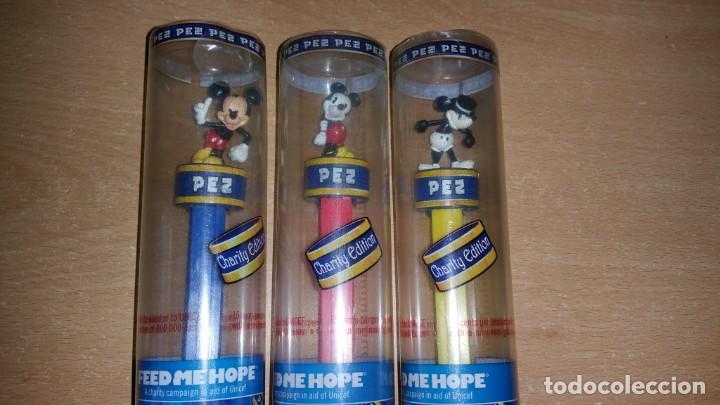 Dispensador Pez: 3 dispensadores PEZ MICKEY MOUSE Charity Edition 80 aniversario - Foto 2 - 139702358