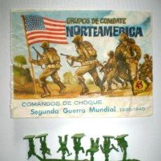 Figuras de Goma y PVC: MONTAPLEX SOBRE NORTEAMERICA VACÍO + 1 COLADA DE SOLDADOS NORTEAMERICANOS. Lote 139706174