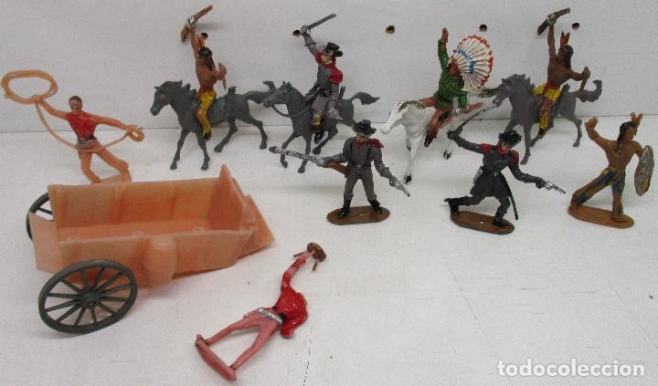 COMANSI LOTE FIGURAS, VAQUEROS, COWBOYS, INDIOS, CONFEDERADOS (Juguetes - Figuras de Goma y Pvc - Comansi y Novolinea)