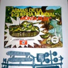 Figuras de Goma y PVC: MONTAPLEX SOBRE Nº 420 VACIO + 1 COLADA DEL TANQUE PANTHER AZUL GRISACEO - KIOSKO AÑOS 70´S. Lote 139794618