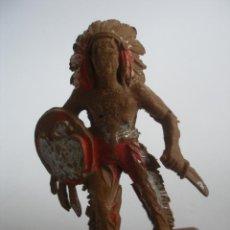 Figuras de Goma y PVC: GUERRERO INDIO PLÁSTICO LAFREDO AÑOS 60. Lote 139827054