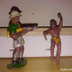 Figuras de Goma y PVC: TARZAN SAFARI AFRICA MISTERIOSA CAZADORES EXPLORADORA EN GOMA MARCA GAMA FIGURA 1 PIEZA . Lote 139855222