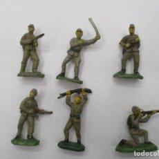 Figuras de Goma y PVC: EJERCITO JAPONES - PUENTE SOBRE EL RIO KWAI - MEDIDA 3´5 CM -JECSAN. Lote 140031278