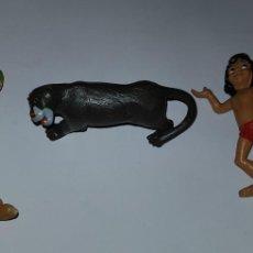Figuras de Goma y PVC: LOTE FIGURAS DE GOMA BULLY LIBRO DE LA SELVA Y PETER PAN PVC. Lote 140051942