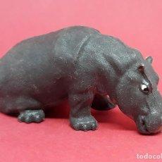 Figuras de Goma y PVC: FIGURA HIPOPÓTAMO BRITAINS ANIMALES SALVAJES ZOO VINTAGE MADE IN ENGLAND. Lote 140082850