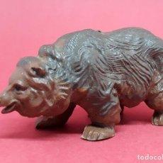 Figuras de Goma y PVC: FIGURA OSO PARDO BRITAINS ANIMALES SALVAJES ZOO VINTAGE MADE IN ENGLAND. Lote 140084246