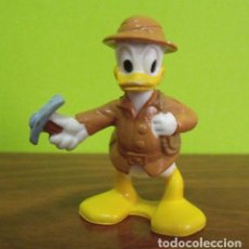 Figuras de Goma y PVC: FIGURA PVC GOMA DURA PATO DONALD EXPLORADOR ARQUEÓLOGO - WALT DISNEY. Lote 140164650