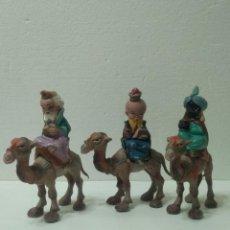 Figuras de Goma y PVC: REYES MAGOS CABEZONES DE PECH. Lote 140181922