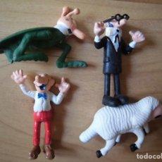 Figuras de Goma y PVC: LOTE 4 FIGURAS PVC MORTADELO Y FILEMÓN OBSEQUIO DANONE . Lote 140190686