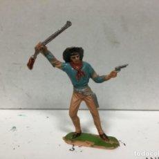 Figuras de Goma y PVC: FIGURA VAQUERO JECSAN OESTE COWBOY . Lote 140196646