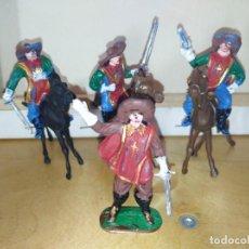 Figuras de Goma y PVC: MOSQUETEROS DE JECSAN A CABALLO PIEZAS DIFÍCILES PVC . Lote 140209498
