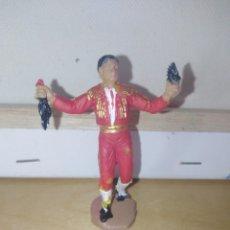 Figuras de Goma y PVC: TORERO DE JECSAN TOROS TAUROMAQUIA BUEN ESTADO. Lote 140209842