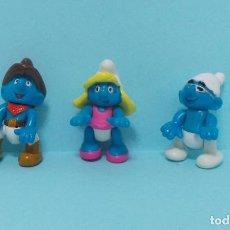 Figuras de Goma y PVC: LOTE DE PITUFOS - ARTICULADOS. Lote 140271829