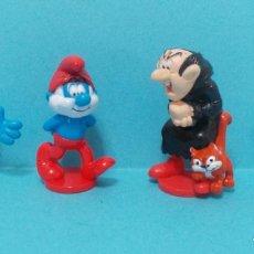 Figuras de Goma y PVC: LOTE DE PITUFOS - PIEZAS PARCHIS. Lote 140272360