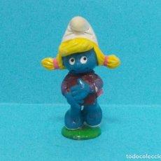 Figuras de Goma y PVC: PITUFINA - ORIGINAL SCHLEICH - ESTUDIANTE. Lote 140272746