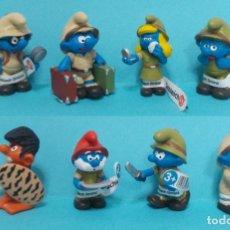 Figuras de Goma y PVC: LOTE DE PITUFOS - ORIGINAL SCHLEICH. Lote 140274228