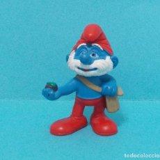 Figuras de Goma y PVC: PAPA PITUFO - ORIGINAL SCHLEICH. Lote 140275229