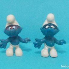 Figuras de Goma y PVC: LOTE DE PITUFOS - ORIGINAL SCHLEICH - VARIANTES. Lote 140275241