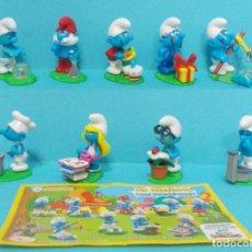 Figuras de Goma y PVC: LOTE DE PITUFOS - KINDER. Lote 140275749