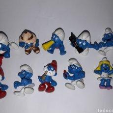 Figuras de Goma y PVC: LIQUIDACIÓN 10 FIGURAS LOS PITUFOS SCHLEICH. Lote 140316188