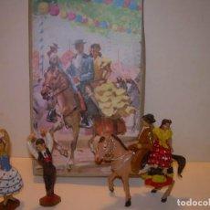 Figuras de Goma y PVC: ANTIGUAS FIGURAS EN SU CAJA ORIGINAL...FERIA DE SEVILLA.. Lote 140396782