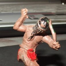 Figuras de Goma y PVC: INDIO DE LAFREDO,GOMA,AÑOS 50. Lote 140397062