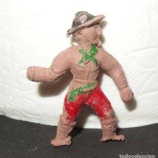 Figuras de Goma y PVC: VAQUERO DE PECH,GOMA,1ª ETAPA,AÑOS 50. Lote 140400818