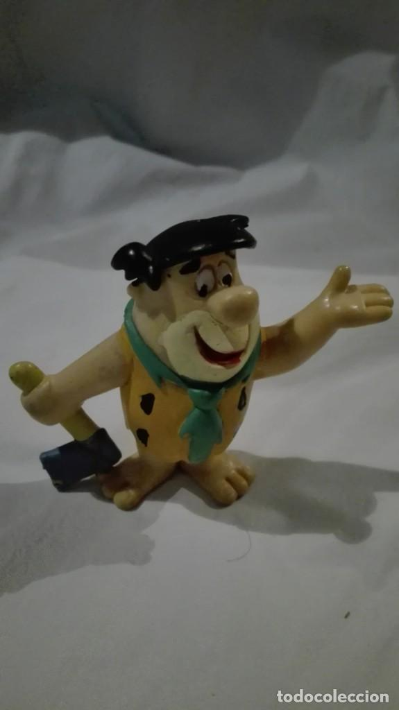 Figuras de Goma y PVC: MUÑECO DE PEDRO PICAPIEDRA MINILAND MACIZO HANNA BARBERA 1990 7 CM DE ALTURA - Foto 2 - 140402302