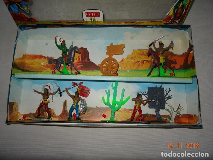 Figuras de Goma y PVC: Antigua Caja Completa FEDERALES de COMANSI - Foto 2 - 140440198