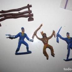 Figuras de Goma y PVC: COMANSI SOLDADOS UNIONISTAS E INDIO. Lote 140460746