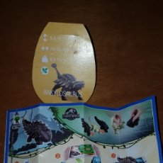 Figuras Kinder: FIGURA KINDER DINOSAURIO JURASSIC WORLD SE759 +BPZ ANKYLOSAURUS MUÑECO COLECCIÓN PREMIUM. Lote 140504410