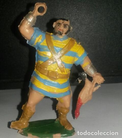 GOLIATH CON POLLO. ESTEREOPLAST. (Spielzeug - Gummi- und PVC-Figuren - Estereoplast)