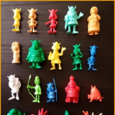 Figuras de Goma y PVC: DUNKIN VICKIE VICKY EL VIKINGO LOTE 20 FIGURAS COLECCION COMPLETA. Lote 140609086