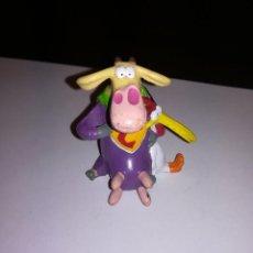Figuras de Goma y PVC: FIGURA DE PVC 1998 VACA Y POLLO NETWORK CARTOON ENRLAG. Lote 140609194