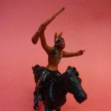 Figuras de Goma y PVC: GAMA. INDIO A CABALLO. AÑOS 1950S. Lote 140630206