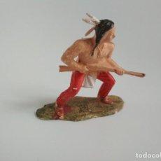 Figuras de Goma y PVC: FIGURA INDIO LITTLE BIG HORN REAMSA. Lote 140680734