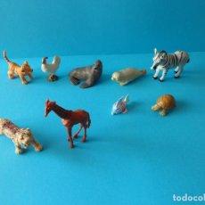 Figuras de Goma y PVC: VARIADO LOTE DE ANIMALES SALVAJES IDEAL DIORAMAS O MAQUETAS - DIVERSAS MARCAS Y ÉPOCAS. Lote 140705542