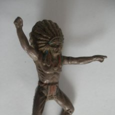 Figuras de Goma y PVC: JINETE INDIO DE GOMA AÑOS 50 - 60. Lote 140726418