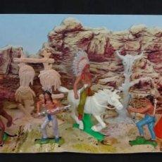 Figuras de Goma y PVC: JECSAN CAMPAMENTO INDIO CAJA. Lote 140750126